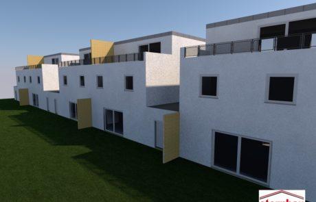 Planung, Bauantrag und Statük für 5 Doppelhaushälfte in Vöhringen