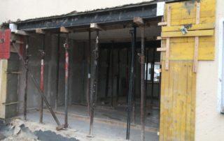 Wanddurchbruch für Stahlträger