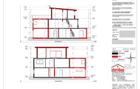 Architekt-Grundriss-Schnitt