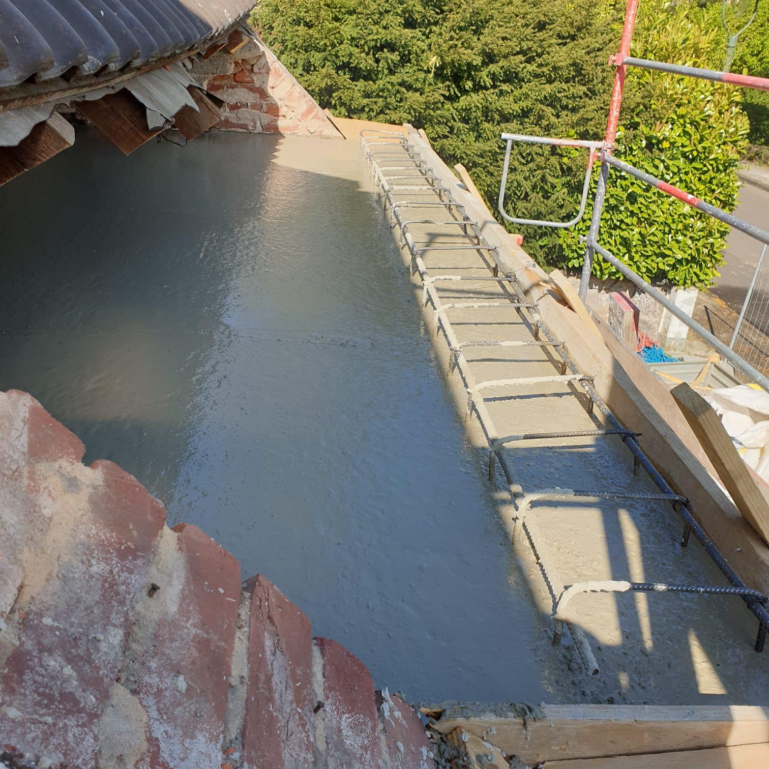 Sanierung mit Betondecke