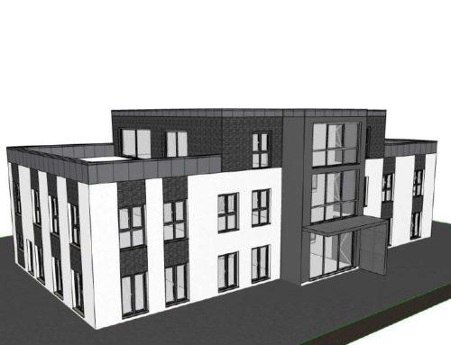 Rohbau für Neubau eines Bürogebäudes in Wegberg
